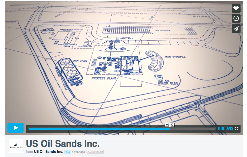 US Oil Sands Inc PR Springs site rendering